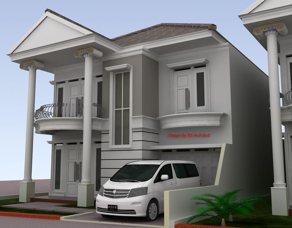 Konsep Desain Rumah Klasik @Bogor Nirwana Residence
