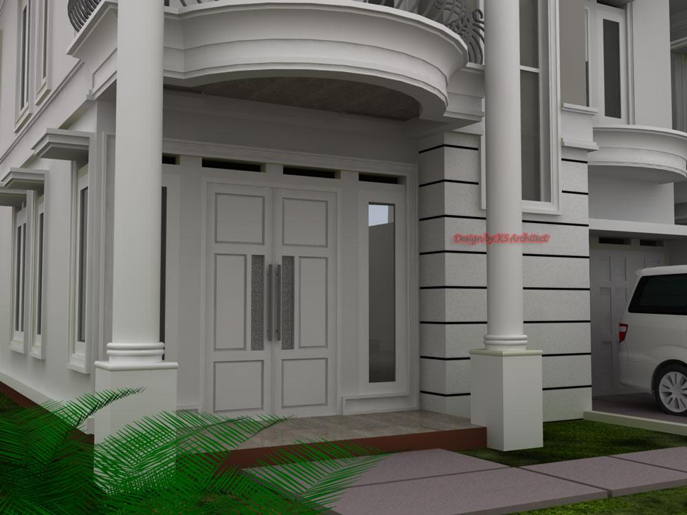 konsep desain rumah klasik bogor nirwana residence biro