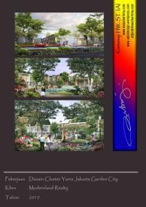 desain cluster yarra jakarta garden city