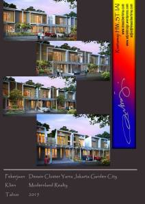 desain type rumah cluster yarra jakarta garden city.